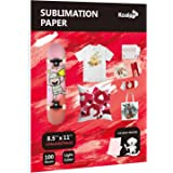 Koala Sublimation Paper 8.5X11inch for Heat Transfer DIY gift Work with any Printer which Match Sublimation Ink 100 Sheets(Pi
