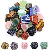 "FORBY 1 lb Bulk Assorted Stones Rough Stones - Large 1"" Natural Raw Stones Crystal for Tumbling, Cabbing, Fountain Rocks, Dec"