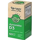 Renzo's Vitamin D3 for Kids - Vegan Vitamin D for Kids with Zero Sugar, Non-GMO Vitamin D3 1000 IU, Lil' Green Apple Flavor,
