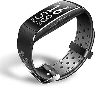 スマートウオッチ スマートブレスレット 活動量計 スポーツ腕時計 血圧計 歩数計 睡眠検測 心拍計 カロリー計算 距離計算 超防水 ios/android対応 着信電話 多機能