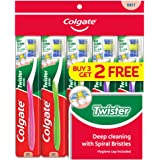 Colgate Twister Toothbrush, Soft, 5ct