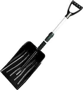 ガーデンガーデン 伸縮式 軽量スノーショベル(雪かきスコップ) ブラック 1本 長さ88-71cm SVL88-BLK