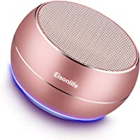Portable Bluetooth Wireless Speakers With HD Sound Audio Steareo And Enhanced Bass, Hands-Free Calls Built-In Speakerphone For Iphone, Ipad, Blackberry, Samsung More (Rose Gold