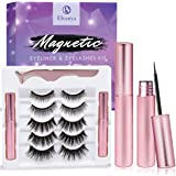 Magnetic Eyelashes with Eyeliner - Magnetic Eyeliner and Magnetic Eyelash Kit - Eyelashes With Natural Look - Comes With Appl