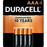 Long lasting power Duracell Alkaline AAA Battery 4 Blister Pack, (88646)