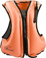 Rrtizanライフジャケット インフレータブル ベストタイプ シュノーケリング 用 フローティングベスト 膨張式 救命胴衣 超浮力 大人用