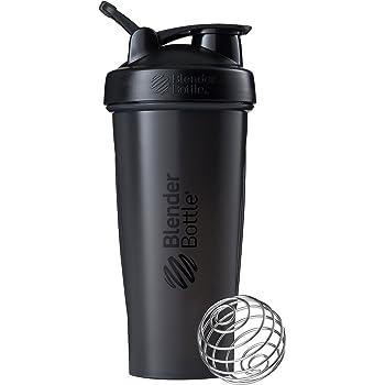 28 Ounce Clear Black BlenderBottle Classic Loop Top Shaker Bottle