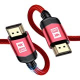 HDMICable2M[4K60Hz,2K144hz],SweguardHDMI2.0CableUltraHighSpeed18GbpsSupport3D,4KUHD,2160p,HD1080p-Red