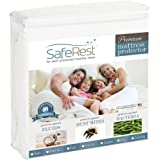 Queen Size SafeRest Premium Hypoallergenic Waterproof Mattress Protector - Vinyl Free
