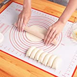 Silicone Pastry Baking Mat Non Stick Large Extra Thick with Measurements Baking Mat,Counter Mat, Dough Rolling Mat,Oven Liner
