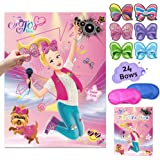 JoJo Siwa Pin The Bow On The Head Party Games – JoJo Siwa Birthday Party Supplies Unicorn Bow Stickers Wall Party Decorations