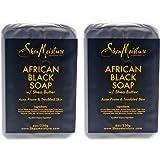 Shea Moisture African Black Soap Bar Acne Prone & Troubled Skin - Pack of 2-8 oz Bar Soap