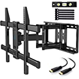 PERLESMITH TV Wall Mount Bracket Full Motion Dual Articulating Arm for Most 37-70 Inch LED, LCD, OLED, Flat Screen, Plasma TV