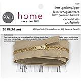Dritz Home Brass Upholstery Zipper, Beige, 30-Inch