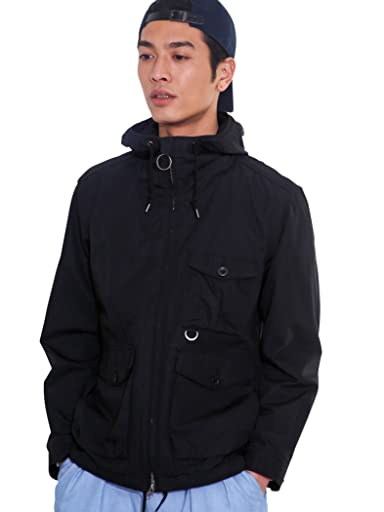 Cotton Weather Cloth Deck Parka 3225-149-2307: Black