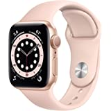 Apple Watch Series 6 (Gold Aluminum, 40mm, Pink Sand Sport Band, GPS Only)
