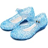 Techcity Princess Girls Sandals Dress Up Dance Party Cosplay Jelly Shoes for Kids Toddler Mary Janes