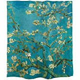 Ofat Home Van Gogh Almond Blossoms Shower Curtain Set with Rings, Bathroom Acessories Room Decor Wall, Upgraded Weighted Fabr