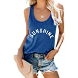 MOUSYA Sunshine Tank Tops for Women Summer Sleeveless Graphic Casual Vest Nature Shirt Vacation Tee