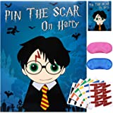 Pin The Scar On Harry Game for Wizard Birthday Party Supplies Decorations (48 Scars)…