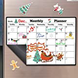 Magnetic Dry Erase Calendar for Refrigerator, Monthly Planner Fridge Calendar Kitchen Magnets Large Whiteboard Erasable Meal