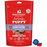Stella & Chewy's Freeze Dried Dog Food Patties,Snacks Perfectly Puppy 14 Oz Bag with Hotspot Pets Food Bowl - Made in USA (Ch