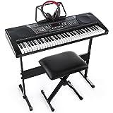 Joy 61-Key Standard Keyboard Kit Including USB Music Player Function, Bundle with Headphone, Stand, Stool, Power Supply (JK-6