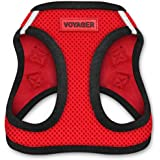 Voyager Step-in Air Dog Harness - All Weather Mesh, Step in Vest Harness for Small and Medium Dogs by Best Pet Supplies - Red
