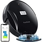 Honiture Q5ロボット掃除機 Wi-fi接続 アプリ対応 自動充電 LCDディスプレイ 600mlのダスト容器 350ml電気制御水タンク 2000Pa強力清掃 日本語音声対応 日本語取扱説明書付き ブラック