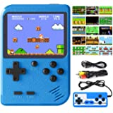 DEIKAL Handheld Game Console, Retro Game Console with 500 Classic Handheld Games, 3 inch Screen Support for Connecting TV & T