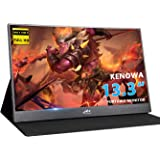 13.3 inch Portable Monitor Kenowa 1920x1080 Computer Gaming Display Monitors HD IPS with Dual Type-C/USB-C HDMI Video Port/Wi