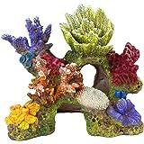 "Danmu 1Pc of Polyresin Coral Ornaments, Aquarium Coral Decor for Fish Tank Aquarium Decoration 6 3/5"" x 3 7/10"" x 5 1/2"""