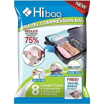 衣類圧縮袋 10枚入 手巻き 掃除機不要 旅行用圧縮袋 収納袋 ダニ、カビ対策、防虫防塵防湿(S*2枚、M*4枚、L*4枚)