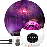 Star Night Light Projector Bedroom,Nakalus Nebula Projector LED Ocean Wave Starry Projector Light with Bluetooth Hi-Fi Stereo