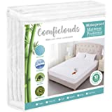 Queen Size Cooling Hypoallergenic Waterproof Mattress Protector Pad Cover,Bamboo Terry Top Breathable Fitted Sheet Style Deep