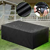 Patio Cover, Tezoo Outdoor Furniture Lounge Porch Sofa Waterproof Dust Proof Protective Loveseat Covers (315 x 160 x 74 cm)