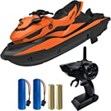 IOKUKI 2.4G RC Boats for Kids - Remote Control Boat for Kids & Adults for Lakes & Pools with 2 Batteries / Dual Motors/2 Char