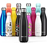 Proworks Stainless Steel Water Bottle, BPA Free & Vacuum Insulated for 12 Hours Hot & 24 Hours Cold Drinks, Metal Sports Flas