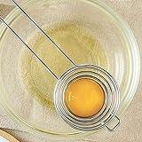 DishyKooker Egg Yolk Separator Protein Separation Tool Long Handle Stainless Steel Divider Holder Household Items