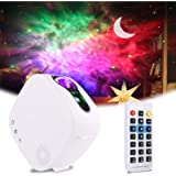 Sky LED Projector Night Light,3-in-1 LED Moon Nebula Cloud Rotating Star Light Galaxy Projector with RF Remote Controller,Blu