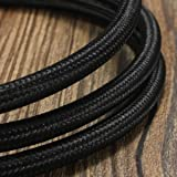 32.8ft Round 18/2 Rayon Covered WireHESSION Antique Industrial Electrical Cloth CordVintage Style Lamp Cord Strands UL Listed