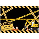 Allenjoy 7x5ft Under Construction Theme Backdrop for Photography Dump Truck Digger Zone Boys Birthday Party Supplies Baby Sho