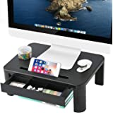 Marbrasse Monitor Riser Stand - Built with Storage Drawer
