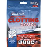 QuikClot Advanced Clotting Gauze | Kaolin, Hemostatic First Aid Combat Gauze Pads to Stop Bleeding Fast | (2) 3-in x 24-in Ga