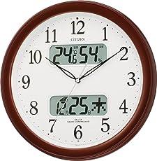 CITIZEN (シチズン) 電波掛け時計 ネムリーナカレンダーM01