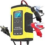 Niccen バッテリー充電器 6A/12V カーバッテリー バッテリーチャージャー 大電流 メンテナンス充電器 過電圧…