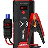 Rooboost™ UPGRADED 1500A Peak Car Jump Starter (Up to 7L Gas and 5L Diesel) with Digital Display, Wireless Phone Charger, USB