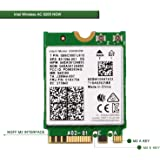 Wireless Network Adapter for Laptop and Desktop PCs–NGFF M2 2230 Wi-Fi Card-2.4GHz 300Mbps or 5GHz 867Mbps(80MHz) Bluetooth 4