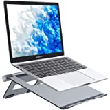 Nulaxy Portable Laptop Stand, Aluminum Cooling Stand with Heat-Vent, Adjustable Laptop Holder Riser for MacBook, Pro, Air, Sa