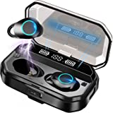 Bluetooth イヤホン ワイヤレスイヤホン Bluetooth 5.0+EDR CVC8.0ノイズキャンセリング 自動ペアリング 瞬間接続 Hi-Fi ブルートゥースイヤホン Type-C充電対応 片耳/両耳 左右分離型 マイク内蔵 IPX7防